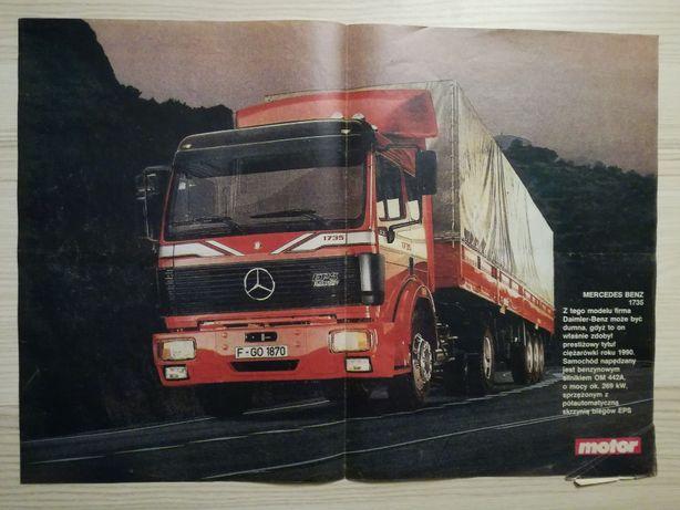 Plakat Poster Mercedes SK 1735 4x2 EPS 33,5cm x 47cm Ciężarówki Trucks