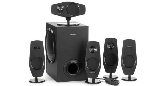 Głośniki Creative T6060 5.1 + karta muzyczna + stojaki na głośniki