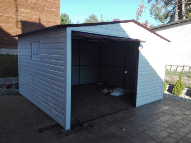 garaże blaszane, wiaty, hale,garaż 3x3 dwuspadowy