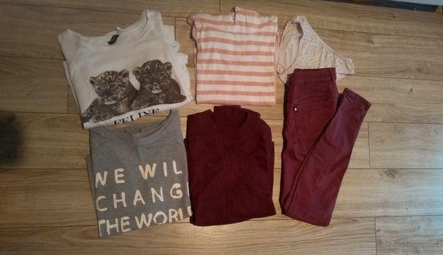 Zestaw 4 bluzy + spodnie majtki