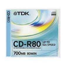 CD-Rs e CD-RWs TDK - ótimo preço