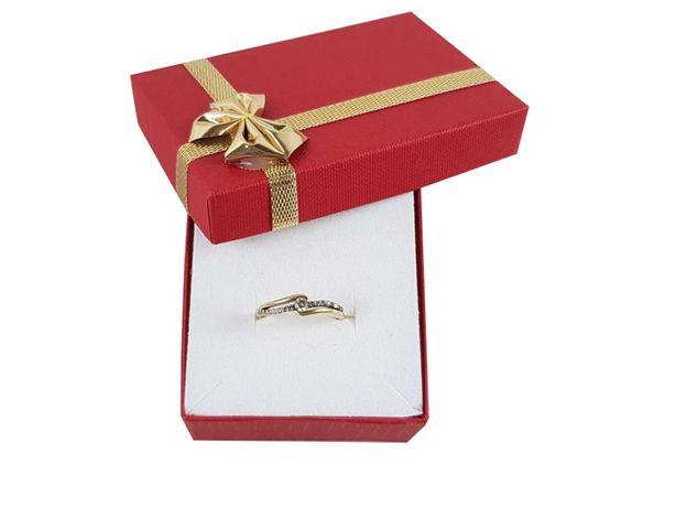 Złoty pierścionek z cyrkoniami P333 1,52G R14