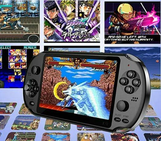 """Consola videojogos portátil X12 ecrã grande 5.1"""" com câmera e bateria"""