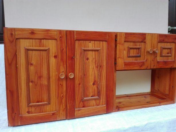 Szafka drewniana, modrzewiowa