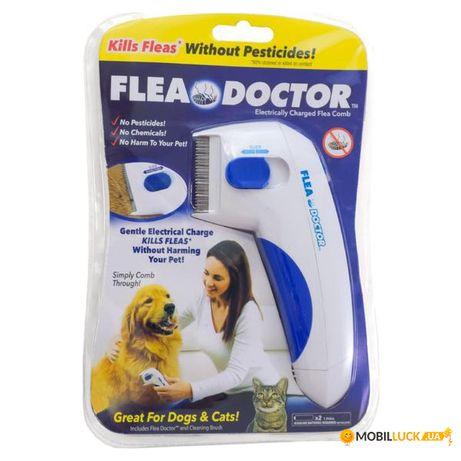 Электрическая расческа для животных Flea Doctor с функцией уничтожения