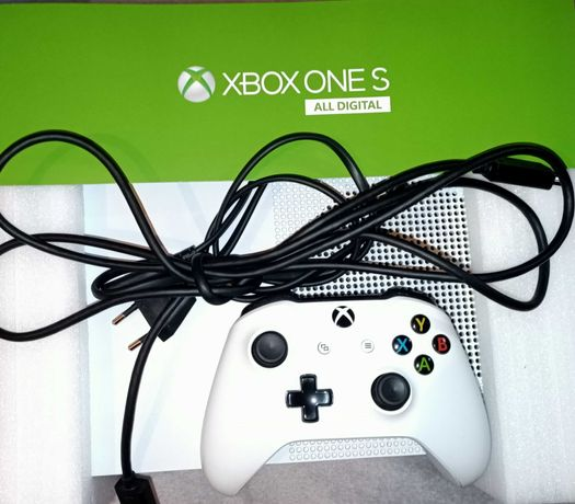 Xbox one S, ALL DIGITAL, STAN 11/10 + BIAŁY PAD | 1TB