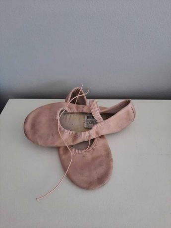 Sapatilhas de ballet clássico de pele  rosa  tamanho 34