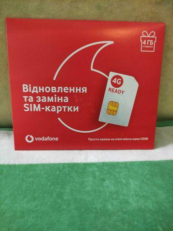 SIM карта для восстановления номера Vodafone, пустышка