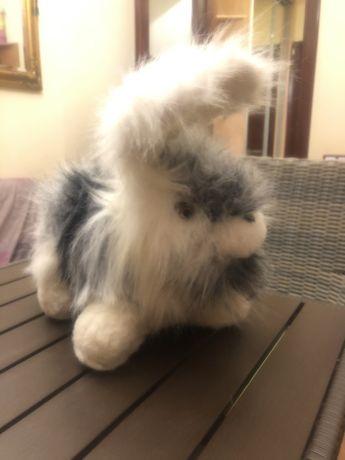 Заяц зайчик кролик игрушка мягкая шерсть
