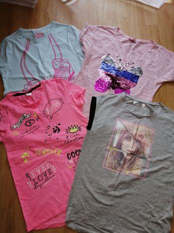 Zestaw czterech bluzek dla dziewczynki