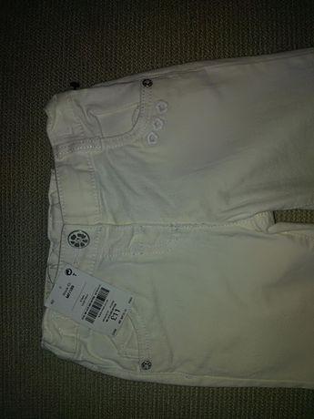 NOWE białe spodnie jeansowe 2-3 lata NEXT