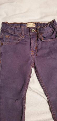 Spodnie jeansowe jeans Zara, cudny kolor, 3-4 latka 104 cm.