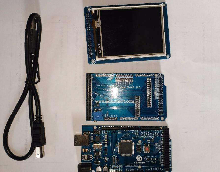 Arduino Mega com TFT Shield e LCD 3,2'' TOUTCH Ponte de Lima - imagem 1