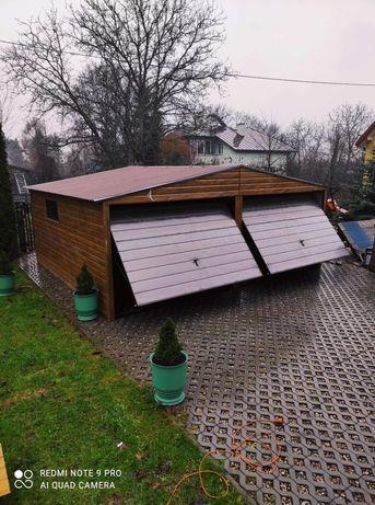 Garaże blaszane drewnopodobne Premium PRODUCENT