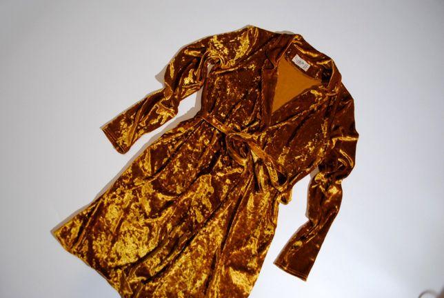 Роскошное платье эксклюзив CLUB L на запах S бархат велюр блестящее