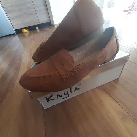 Buty damskie, mokasyny, nowe, rozmiar 36