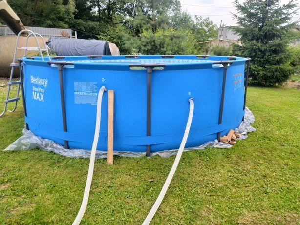 Бесейн 366×100 додам всі аксесуари накриття поплавок фільтр з насосом!