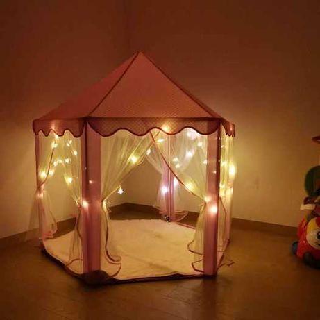 """Tenda de """"princesa"""" + luzes + tapete"""