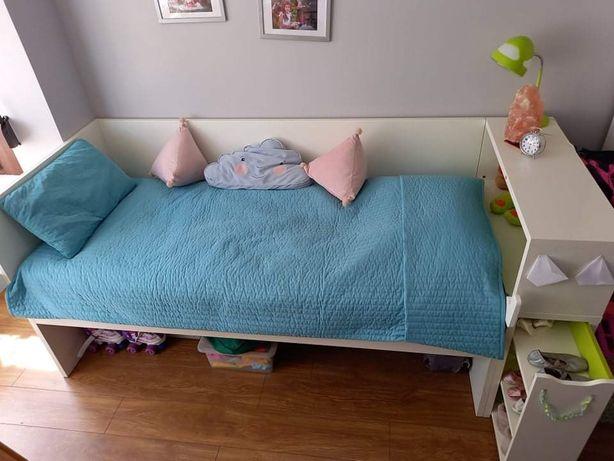 Łóżko białe IKEA 90x200 z dostawką