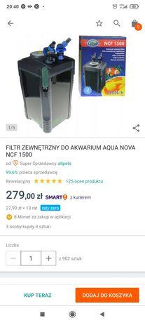 Filtr zewnętrzny Aqua Nova NFC-1500 stan bdb