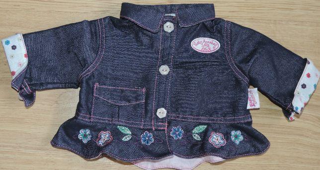 Jeansowa kurtka ubranko dla lalki Baby Annabell oryginalna