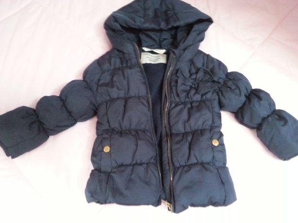 Kurtka zimowa- przejściowa Zara dla dziewczynki r.80