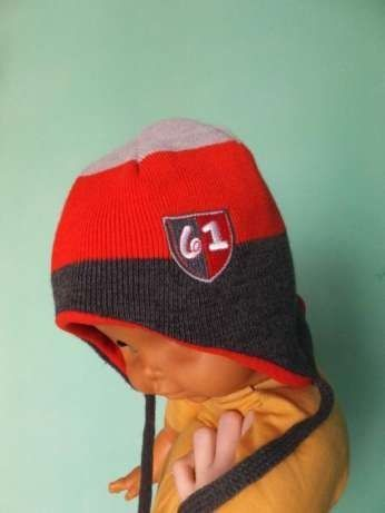 Теплая шерстяная шапка на х/б подкладке Mothercare р. 50