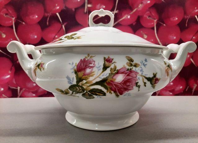 PRL VINTAGE - waza do zupy z porcelany Karolina