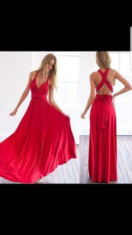 Sukienka różne wiązania S/M