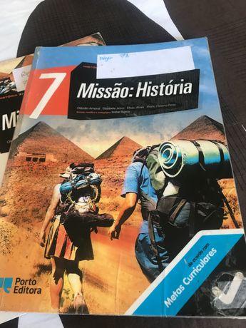 História do 7 e 8 ano Missão História. Livro 8º ano Quero descobrir