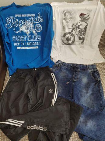 Вещи для мальчика 12-14 лет, футболки, джинсы+ подарок майка