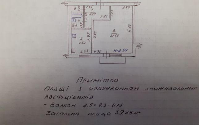 Продажа 1к 40м2 квартиры по ул. Васнецова/ Полтавская