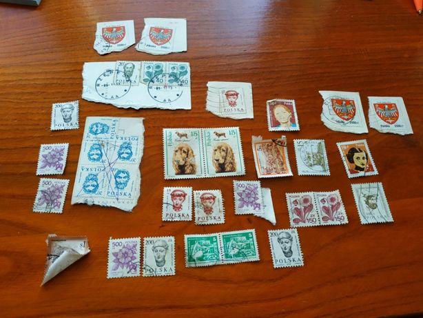 Sprzedam znaczki pocztowe PRL ze starych kartek pocztowych