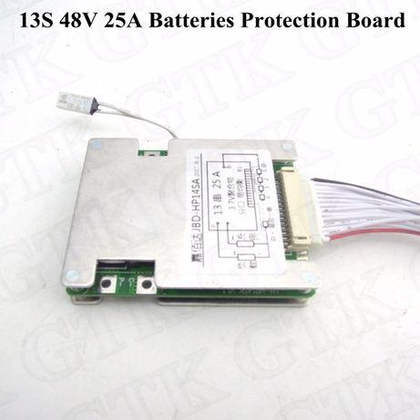 BMS контроллер заряда 13S 30A, 48V 54.6V Li-Ion c балансиром