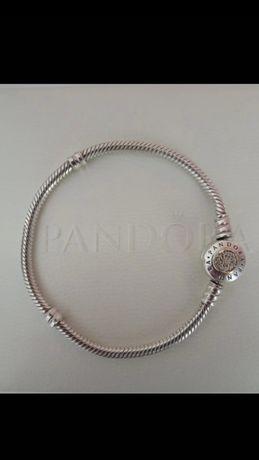 Bransoletka Pandora logo tt ze złotem 18