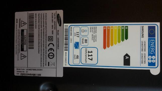 """Peças - Samsung 46"""" UE46D7000 / 7005 /7080/ 7090"""
