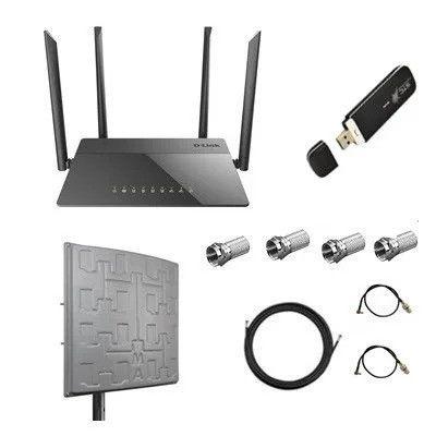 Интернет дача и дом комплект с антенной 4G LTE MIMO 2 x 18 dBi