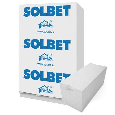 Bloczek , pustak biały SOLBET beton komórkowy 24x24x59