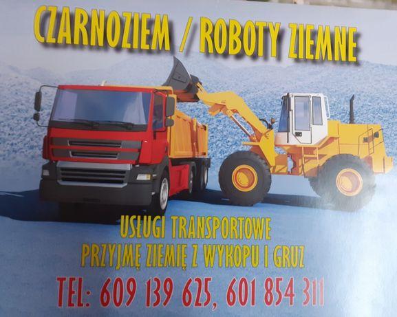 Usługi koparka, koparko-ładowarka, prace ziemne,transport