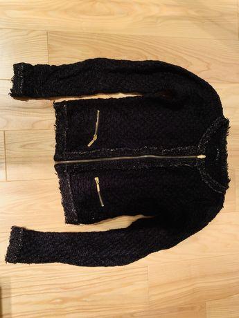 Czarny sweter marynarka żakiet XS Mohito stan idealny