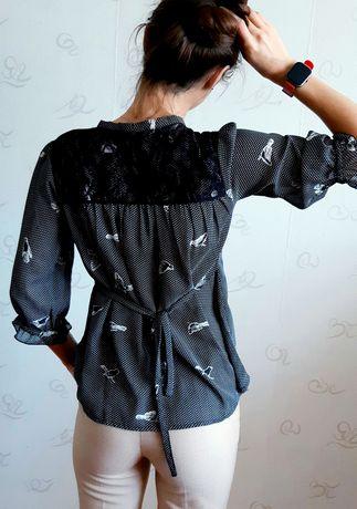 Блуза с птичками