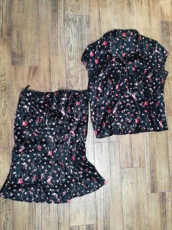 Elegancki zestaw bluzka i spodnica r.44