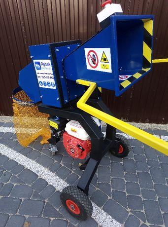 6,5KM spalinowy rębak walcowy-do 6cm do ogrodu, na działkę- do odpadów