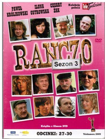 dvd RANCZO serial, tom9 kolekcji,sezon 3,odcinki:27-30,nowe,zafoliowan