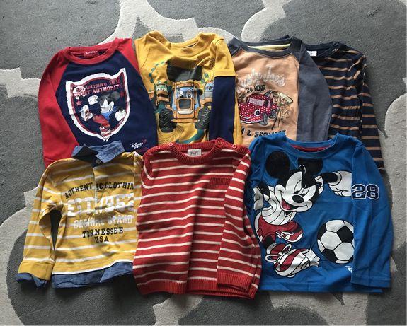 Paka zestaw 7 sztuk t- shirtów długi rękaw, Disney, F&F, rozm. 12-18