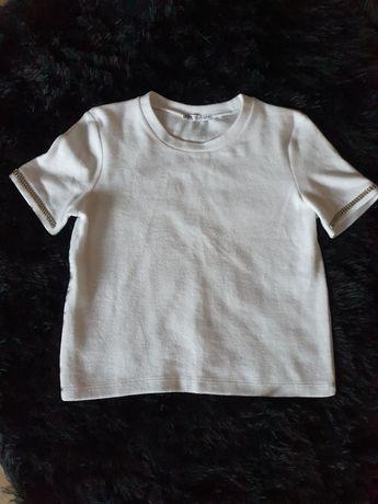 Bluzka biala cyrkonie S