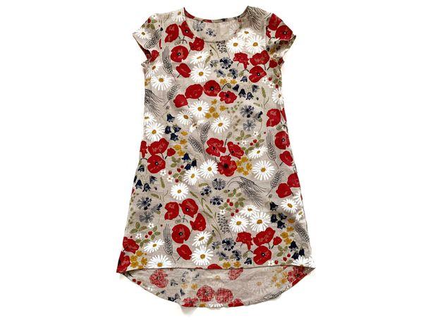 Платье женское летнее свободного кроя. Платье льняное. Размер 46