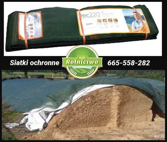 Siatki ochronne 220 g/m2 zabezpieczająca silos/pryzmę-siatka 6×10 m