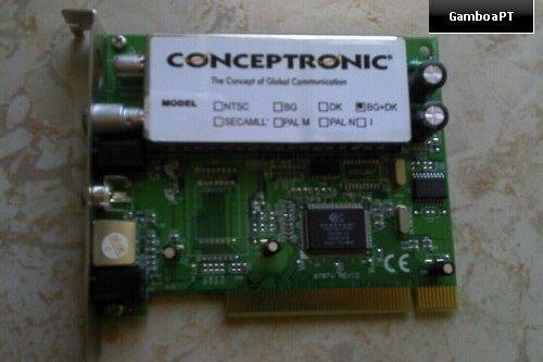 Placa Conceptronic TV + Rádio FM c/ controlo remoto CTVFMi