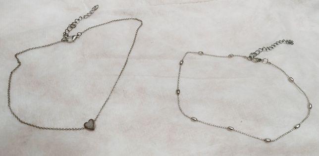 Женская бижутерия, сердечко, украшения, две штуки